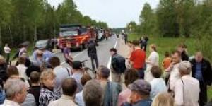 В Запорожской области местные жители перекрыли дорогу