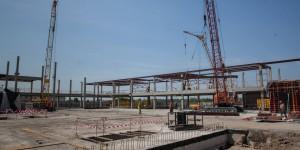 В запорожском аэропорту начали монтаж каркаса нового пассажирского терминала (Фото)