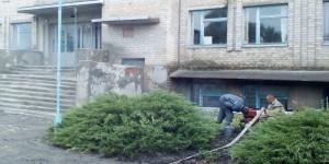В запорожском селе затопило подвал школы
